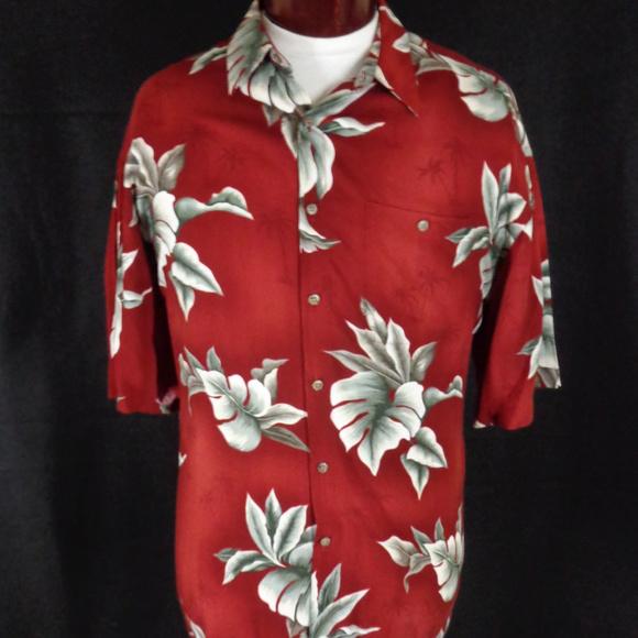 cd3907175 Campia Moda Shirts | Vintage Red Rayon Hawaiian Shirt Xl | Poshmark